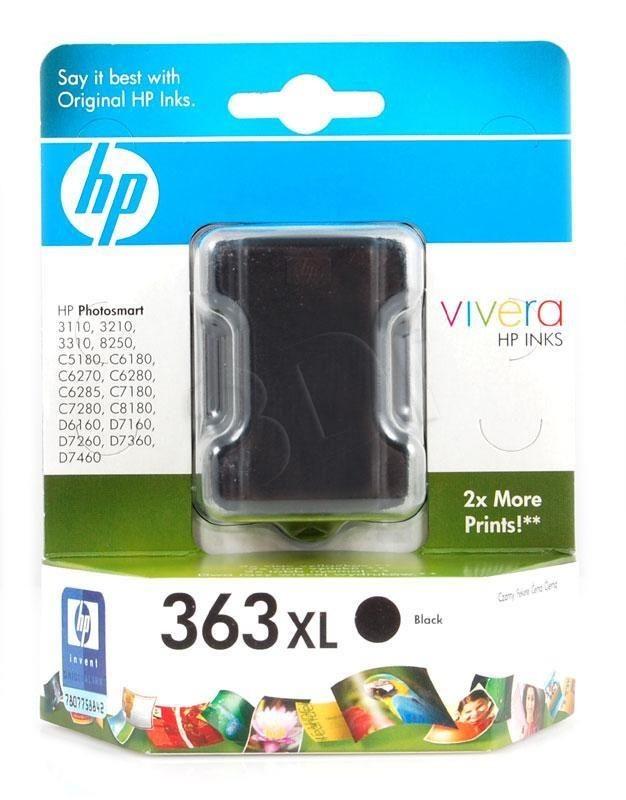 HP 363 czarny (wkład atramentowy, 17ml, Photosmart 8250)