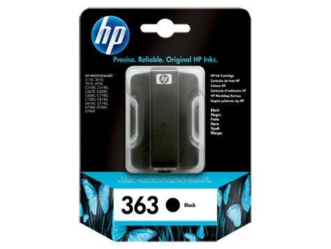 HP 363 czarny (wkład atramentowy, 6ml, Photosmart 8250)