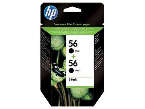 HP Głowica drukująca HP 56 black 2pack | 2x19ml | dj450ci/cbi,5550,psc2x10,ps7x50