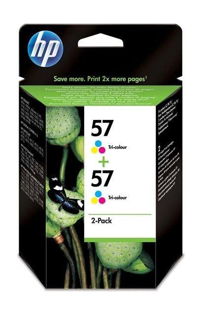 HP Głowica drukująca HP 57 tri-colour 2pack | 2x17ml | dj450ci/cbi,5550,psc2x10,...