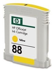 HP 88 original ink cartridge yellow standard capacity 10ml 860 pages 1-pack