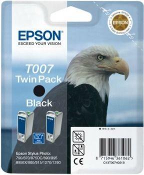 Epson T007402 podwójny czarny (wkład atramentowy, St Photo 790/ 870/ 870 LE/ 875DC/ 890)