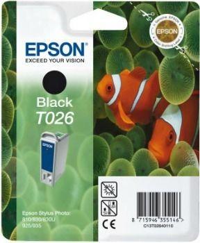 Epson T026401 czarny (wkład atramentowy, Stylus Photo 810, Photo 830, 925)