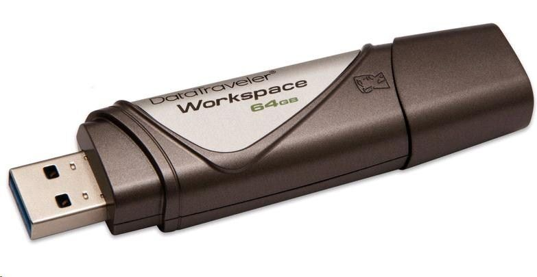 Kingston Flashdrive DataTraveler Workspace 64GB USB 3.0 Szaro-jasnoszary