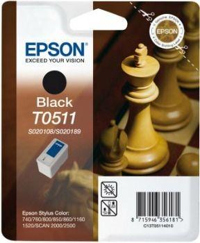 Epson T051140 czarny (wkład atramentowy, StylusColor800/850/1520)