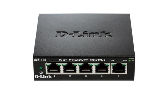 D-Link DES-105/E 5-port 10/100 Metal Housing Desktop Switch