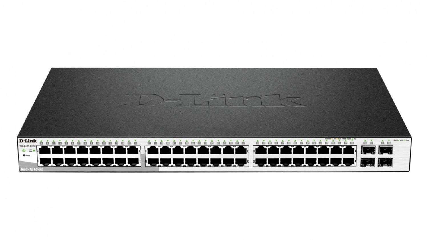 D-Link 52-port 10/100/1000 Gigabit Smart Switch including 4 Combo 1000BaseT/SFP