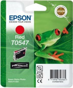 Epson T054740 red (wkład atramentowy, Stylus Photo R800)