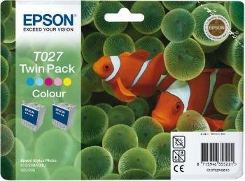 Epson T027403 kolor Twin Pack (wkład atramentowy, Stylus Photo 810, Photo 830, 830U)