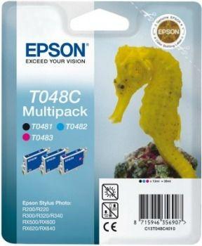 Epson T048C40 Multipack CMB (wkład atramentowy, Stylus Photo R300, RX500, R200, RX600)