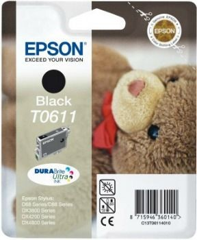 Epson T061140 czarny DURABrite (wkład atramentowy, DX3850/DX4850)