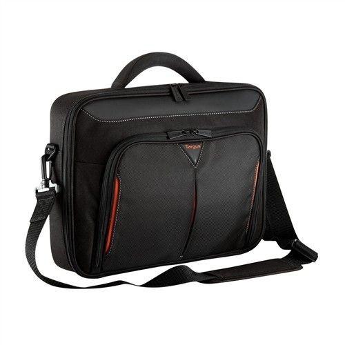 Targus torba do notebooka 17-18'' Classic+ Clamshell (czarno-czerwona)
