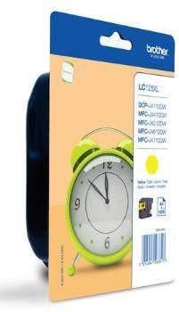 Brother Tusz LC125XLYBP yellow Blister Pack | 1 200str | DCP-J4110DW / MFC-J4410