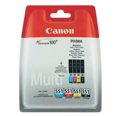 Canon wkład atramentowy CLI551 C/M/Y/BK MultiPack BLISTER with security (iP7250/MG5450)
