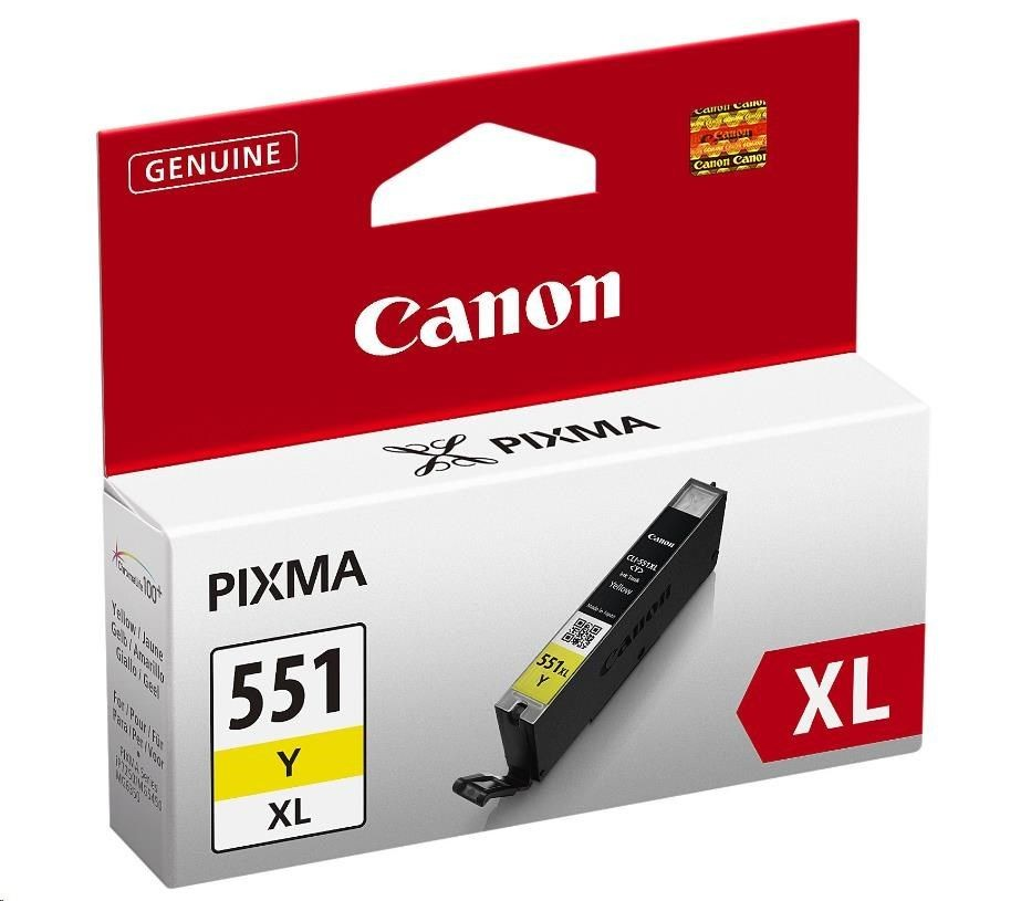 Canon wkład atramentowy CLI551Y XL yellow BLISTER with security (iP7250/MG5450/MG6350)