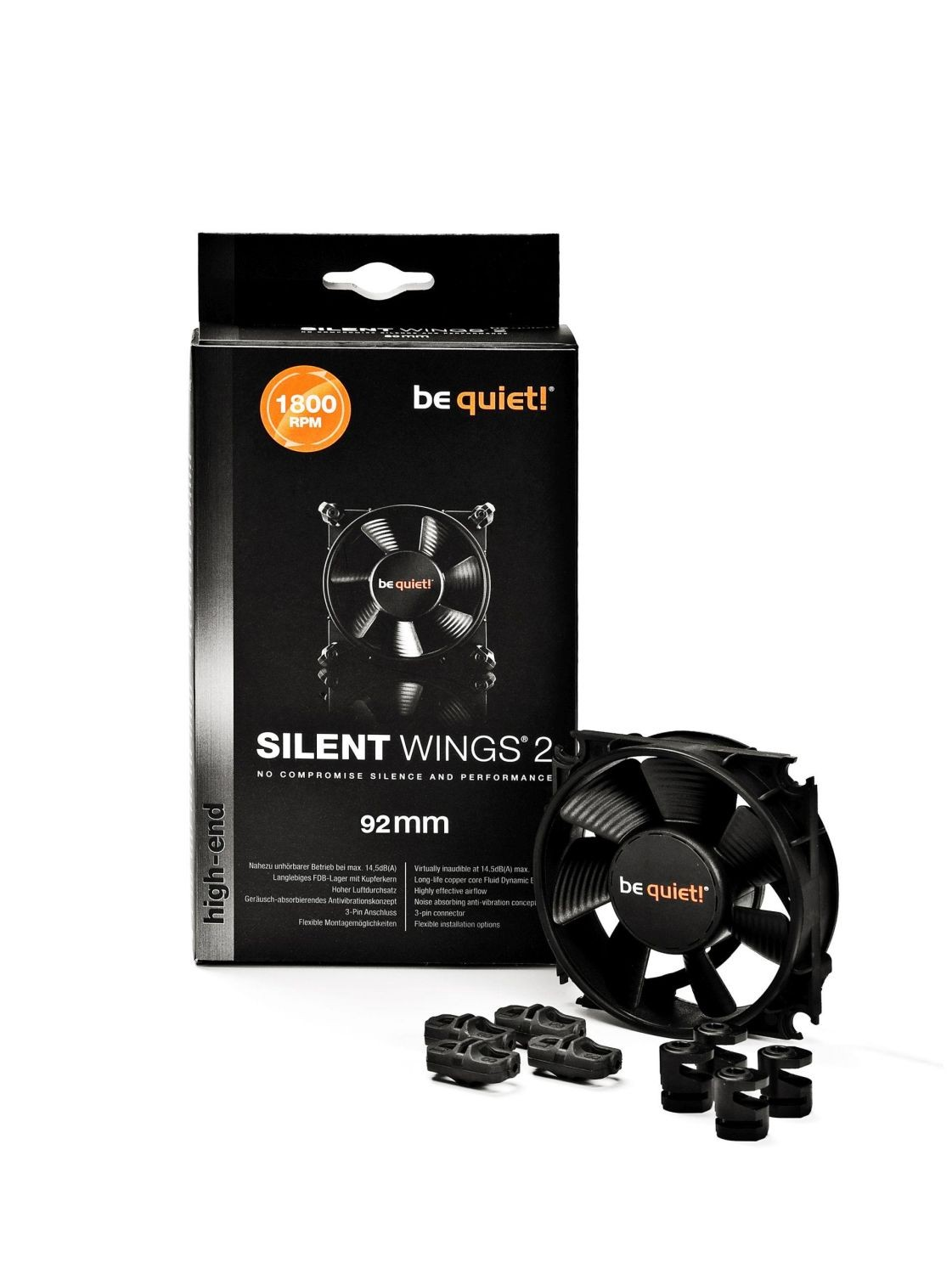 be quiet! Wentylator Be Quiet! SILENT WINGS 2 92x92x25mm 1800obr/min