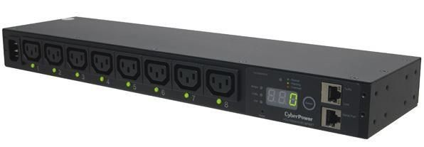 CyberPower PDU15SWHVIEC8FNET ;1U ; 12A ; Switched; 8xC13 ;SNMP LAN