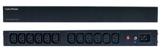 CyberPower PDU 12 gniazd, 16A, 1U, RACK, PDU20BHVIEC12R, montaż pion lub poziom