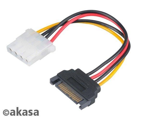Akasa adapter 15pin SATA na 4pin Molex AK-CBPW0315