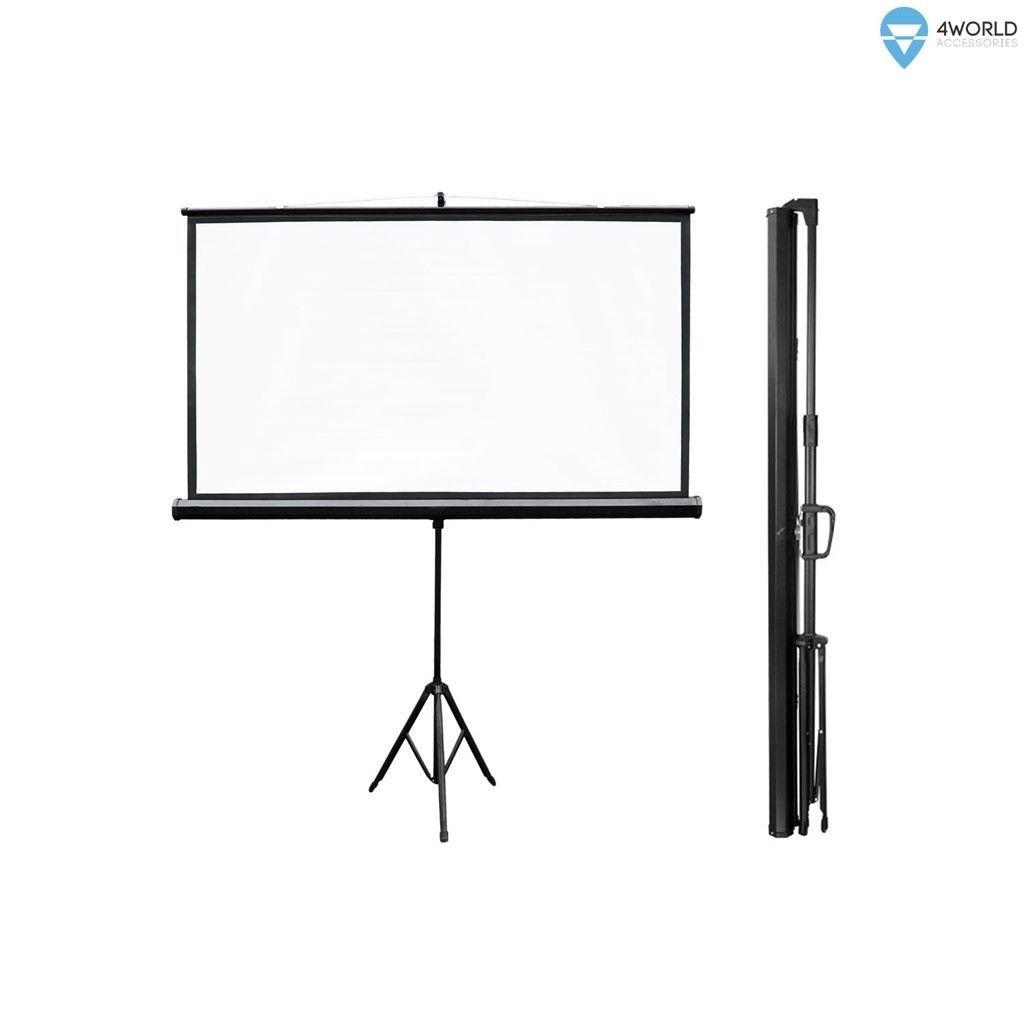 4World ekran projekcyjny ze statywem 159x90 (72'', 16:9, biały mat)