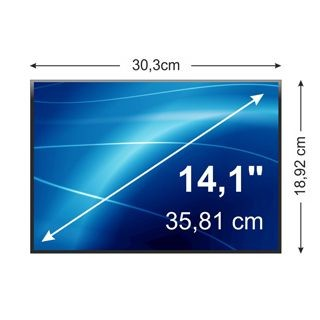 Whitenergy matryca LCD (podś. LED, 14.1'', 1280x800, 30pin, glossy)