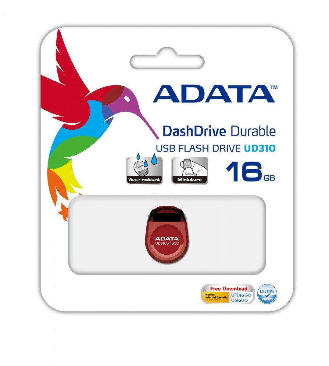 A-Data pendrive UD310 16GB USB2.0 DashDrive (czerwony)
