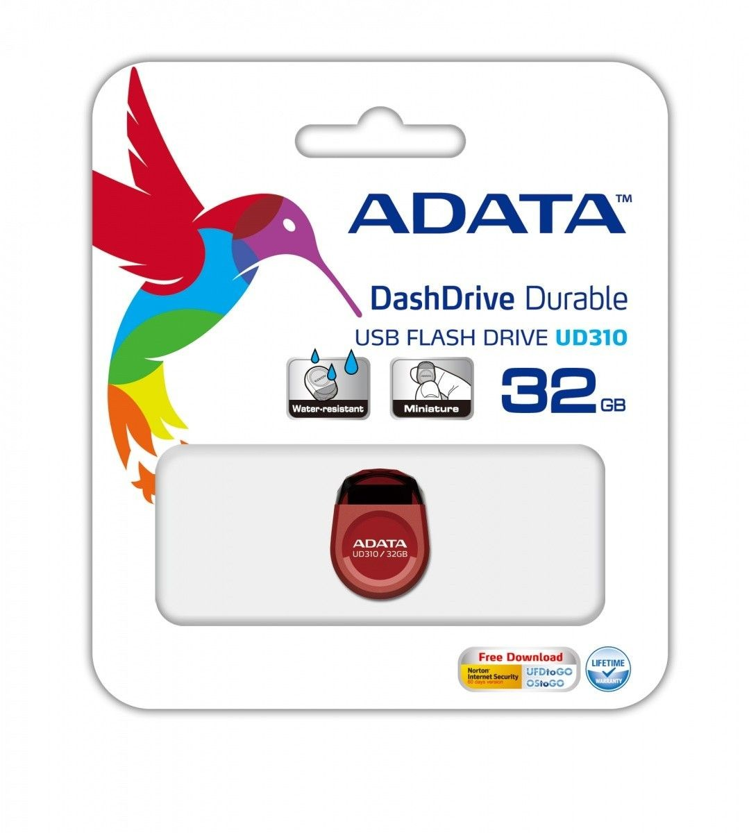 A-Data pendrive UD310 32GB USB2.0 DashDrive (czerwony)