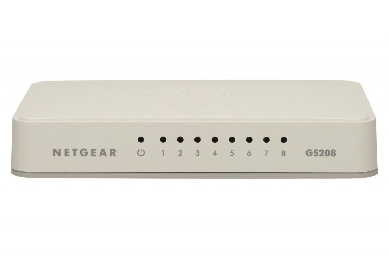 Netgear 8-Port Gigabit Desktop Unmanaged Switch (GS208)