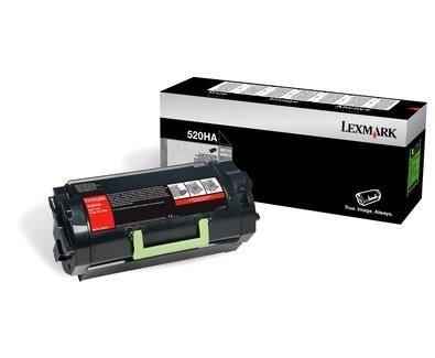 Lexmark toner 520HA black (25000str, MS810de / MS810dn / MS810dtn / MS810n)