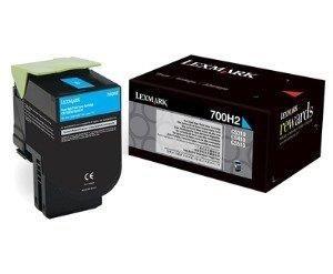 Lexmark toner 700H2 cyan (3000str, CS310dn / CS310n / CS410dn / CS410dtn)