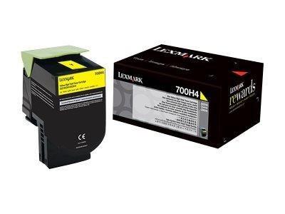 Lexmark Toner 700H4 yellow | 3000 str. | CS310dn / CS310n / CS410dn / CS410dtn
