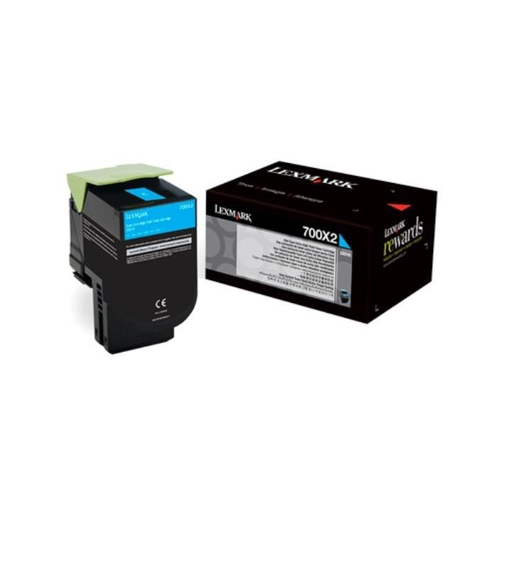 Lexmark toner 700X2 cyan (40000str, CS510de / CS510dte)