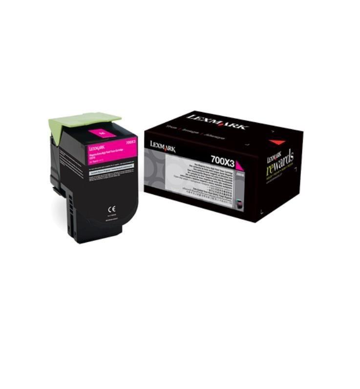 Lexmark toner 700X3 magenta (4000str, CS510de / CS510dte)