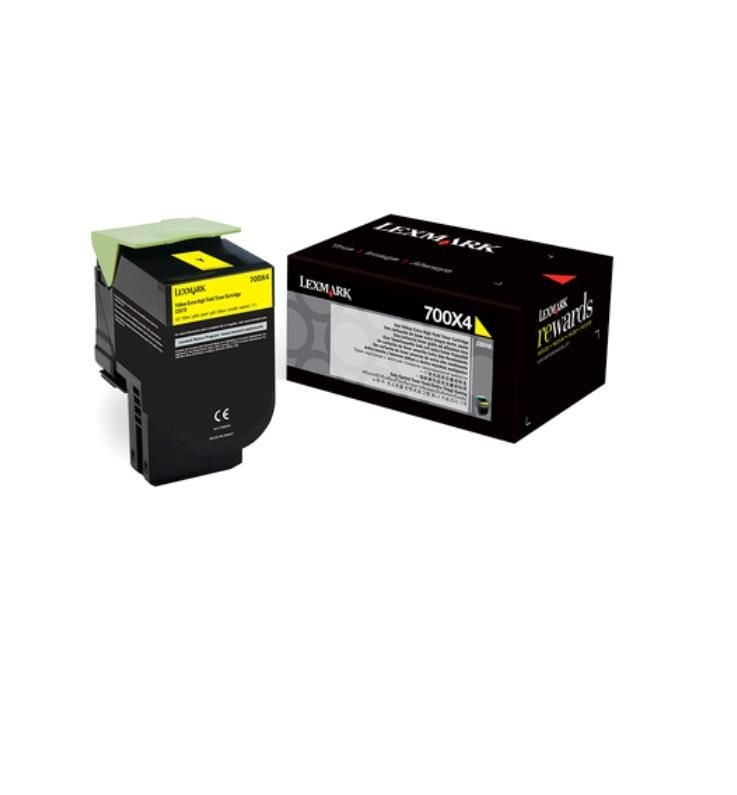 Lexmark toner 700X4 yellow (4000str, CS510de / CS510dte)