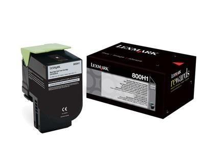 Lexmark toner 800H1 black (4000str, CX410de / CX410dte / CX410e)