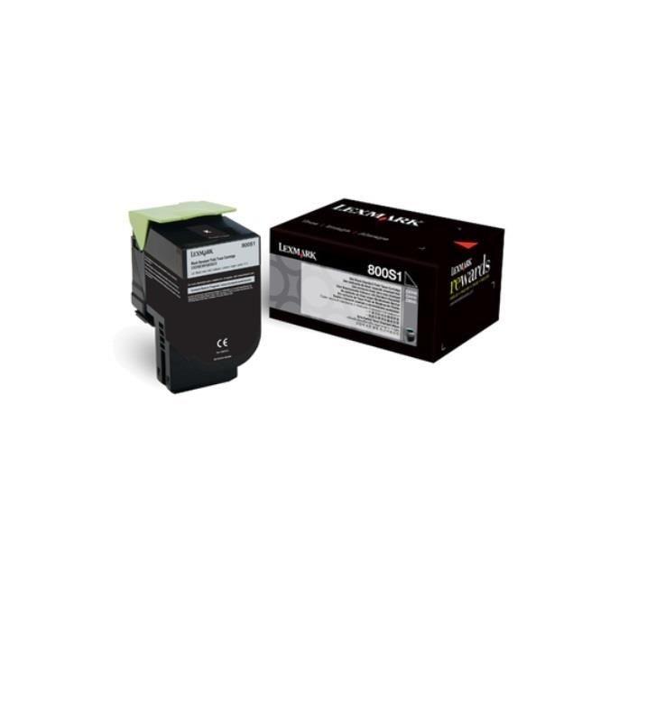 Lexmark toner 800S1 black (2500str, CX310dn / CX310n)