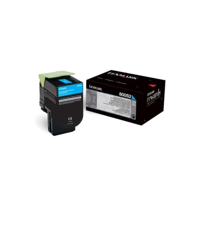 Lexmark toner 800S2 cyan (2000str, CX310dn / CX310n)
