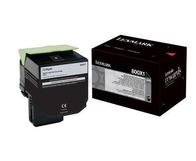 Lexmark toner 800X1 black (8000str, CX510de / CX510dhe / CX510dthe)