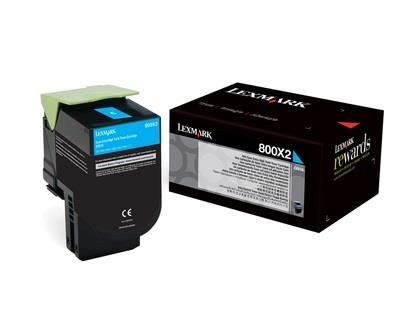 Lexmark toner 800X2 cyan (4000str, CX510de / CX510dhe / CX510dthe)