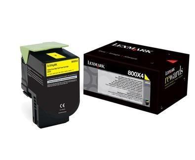 Lexmark toner 800X4 yellow (4000str, CX510de / CX510dhe / CX510dthe)