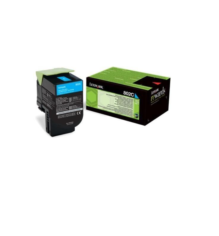 Lexmark Toner 802C cyan | zwrotny | 1000 str.| CX310dn / CX310n / CX410de