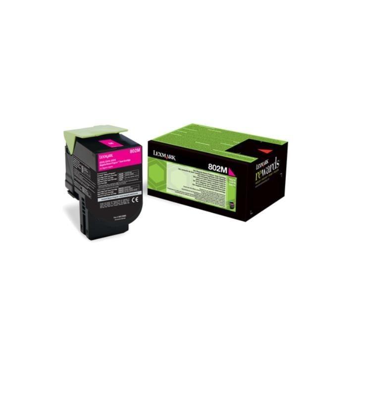 Lexmark Toner 802M magenta | zwrotny | 1000 str.| CX310dn / CX310n / CX410de