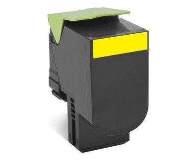 Lexmark toner 802XY yellow (zwrotny, 4000str, CX510de / CX510dhe / CX510dth)