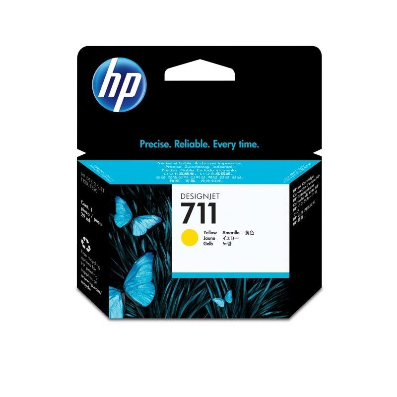 HP Tusz HP 711 yellow | 29ml