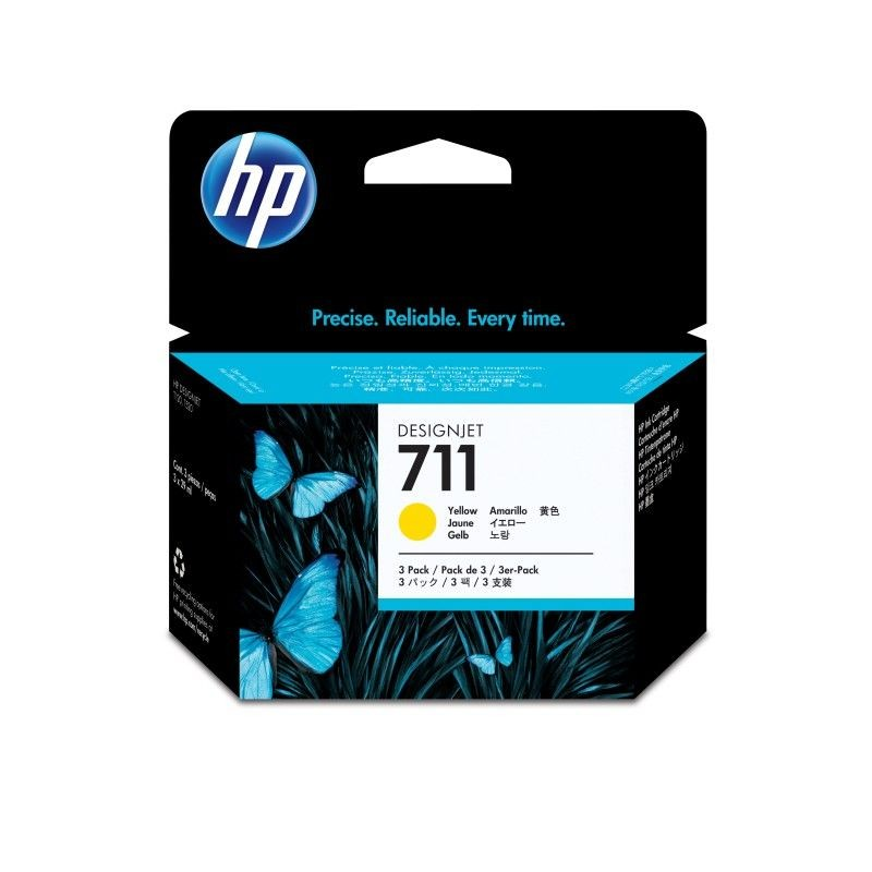 HP Tusz HP 711 yellow | 3x29ml