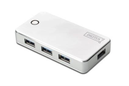 Assmann hub USB 3.0 4-portowy SuperSpeed 5Gbps (biały)