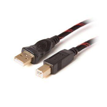 Digitalbox PREMIUM.LNK kabel USB 2.0 AM-BM 3m (miedź, nylonowy oplot, 2*ferryt)