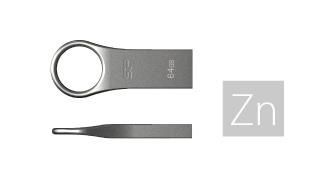 Silicon-Power pendrive 32GB USB 2.0 Firma F80 Silver Gray-Cynk metal