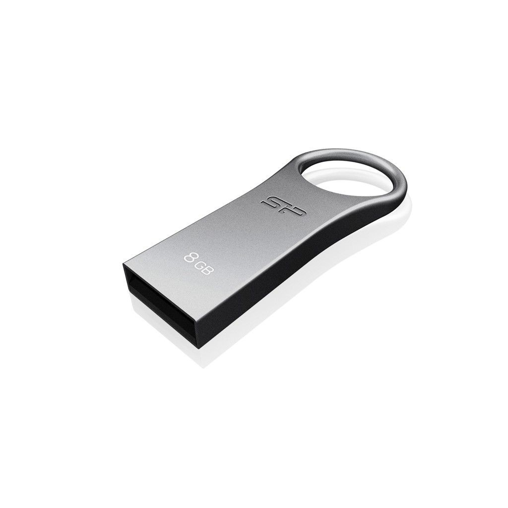 Silicon-Power pendrive 8GB USB 2.0 Firma F80 Silver Gray-Cynk metal