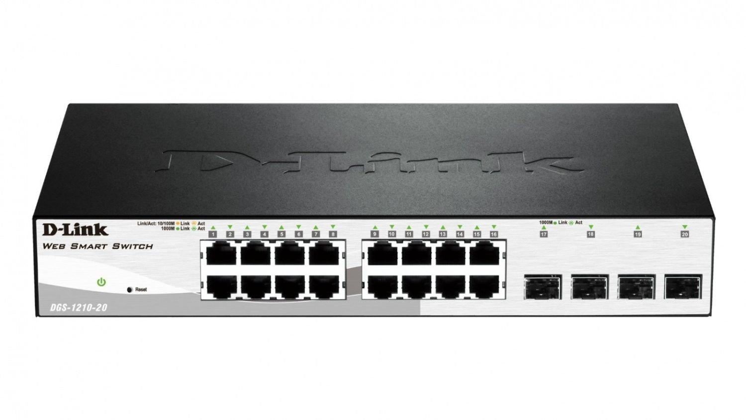D-Link 16-port 10/100/1000 Base-T with 4 x 1000Base-T /SFP ports